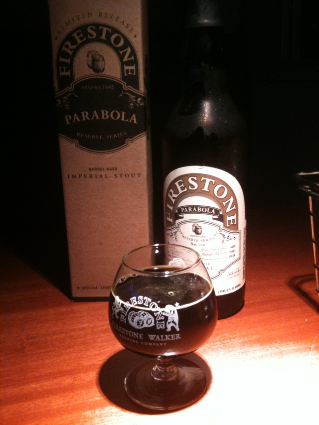 Parabola - Barrel aged Imperial Stout from Firestone Walker in Paso Robles, CA