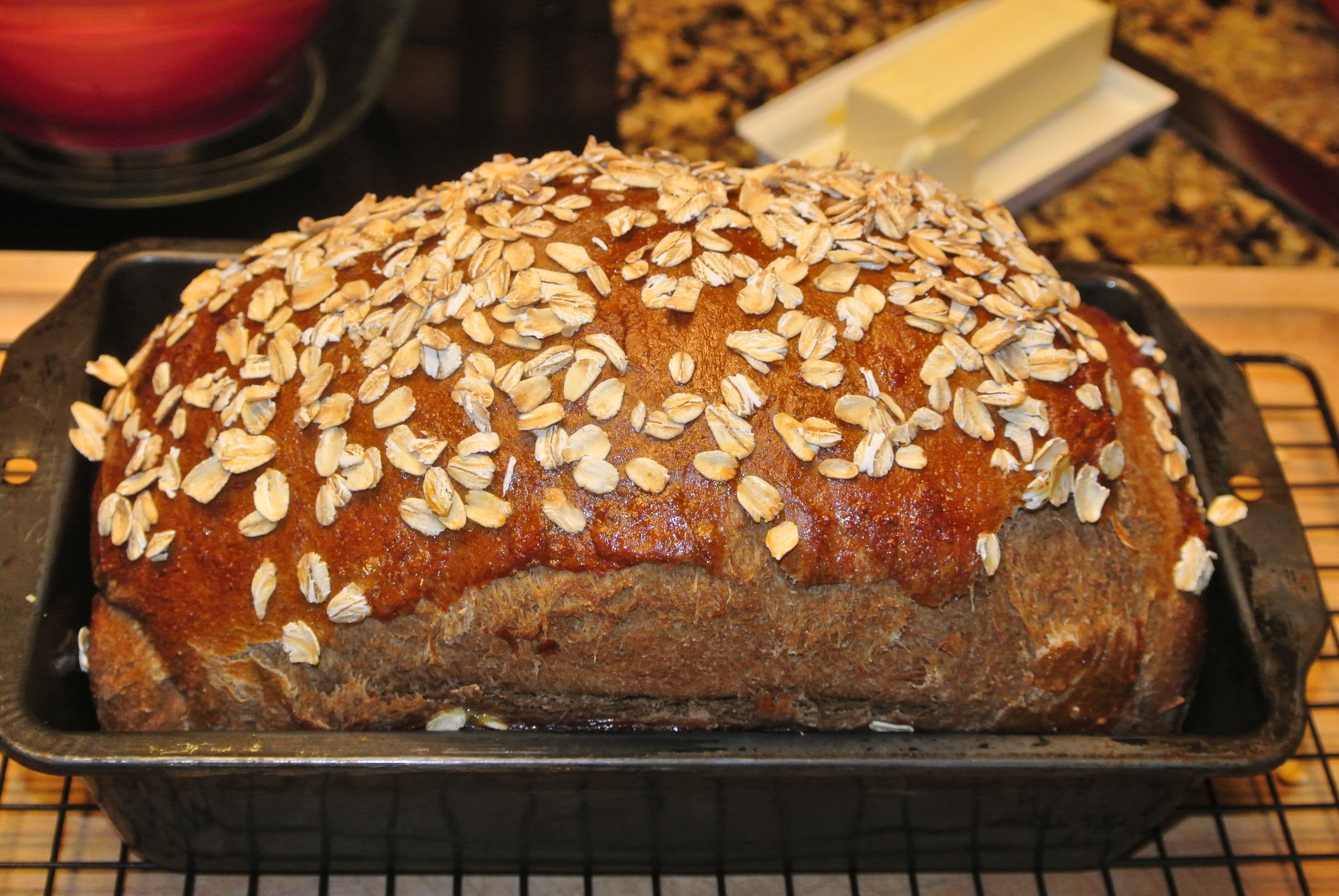 My Imperial Stout bread!
