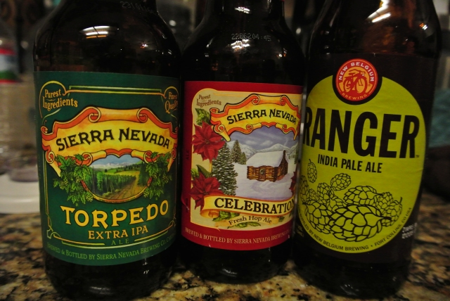 The Celebration form Sierra Nevada was my favorite the other two were dang good!