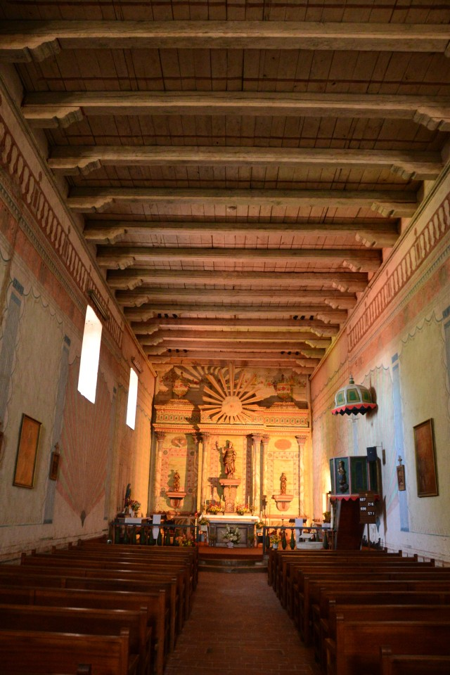 The altar at the San Miguel Mission near Paso Robles. Built in 1794!
