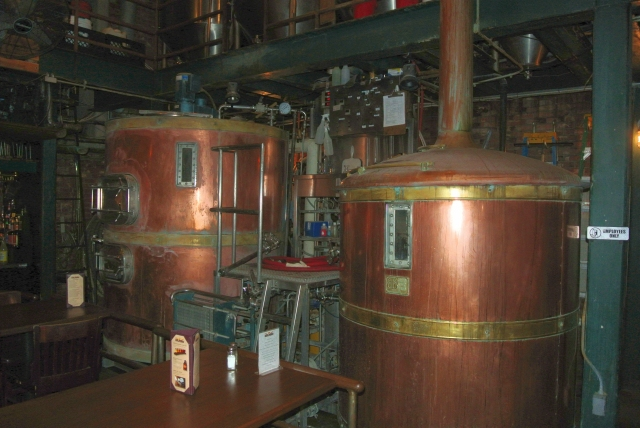 The copper clad brewhouse