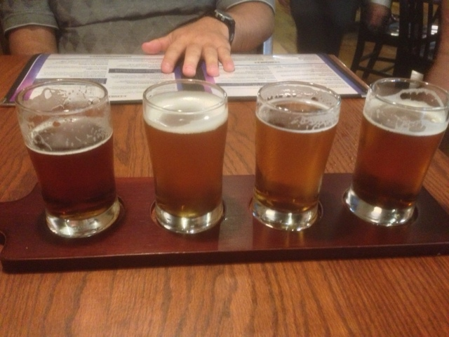 Rockslide flight of beers