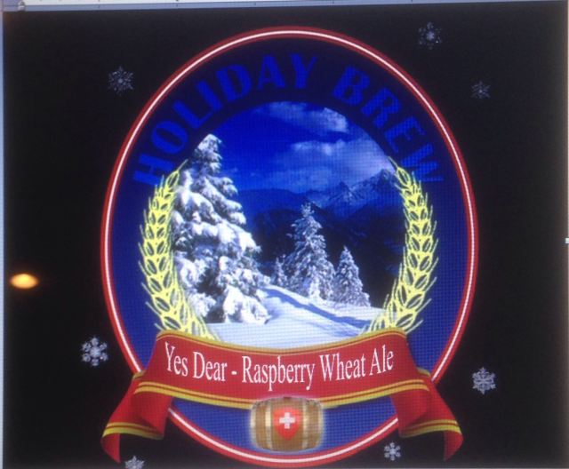 "Tongue in Cheek - ""Yes Dear - Raspberry Wheat Ale"" -"
