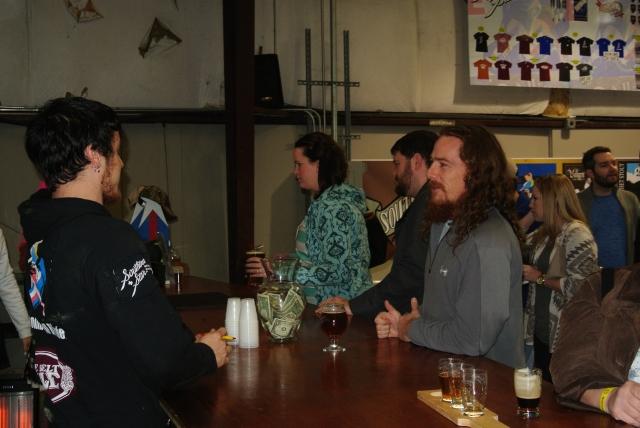 Lance at the bar ordering hos next Libation.
