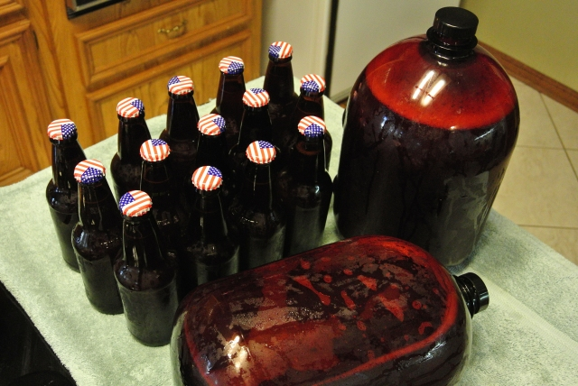 My bottled beer and the two 6L Tap-a-Draft bottles.