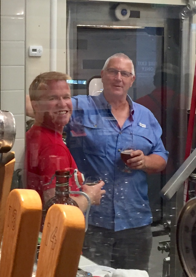 On the other side of the glass....great equipment, amazing brewing knowledge and a very creative guy!